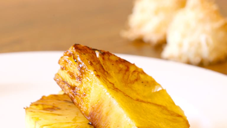 Sweet and healthy treat ... grilled pineapple.