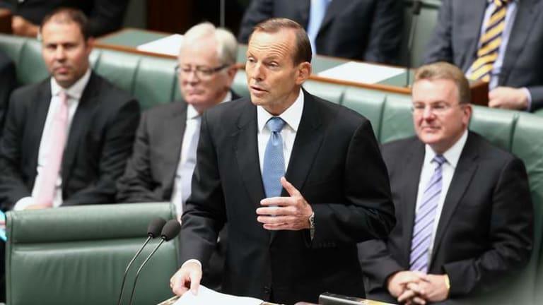 Prime Minister Tony Abbott delivers a speech on deregulation.