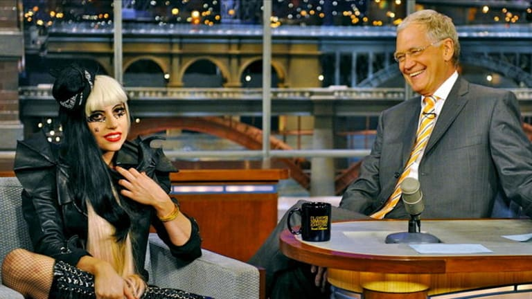Lady Gaga has Letterman in stitches.