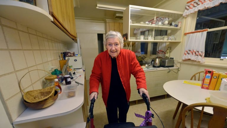 TOUGH DECISIONS: Elizabeth Balmer is keen to stay close to her family home and friends in an area she has lived in for more than half a century, but she is pragmatic about the house.