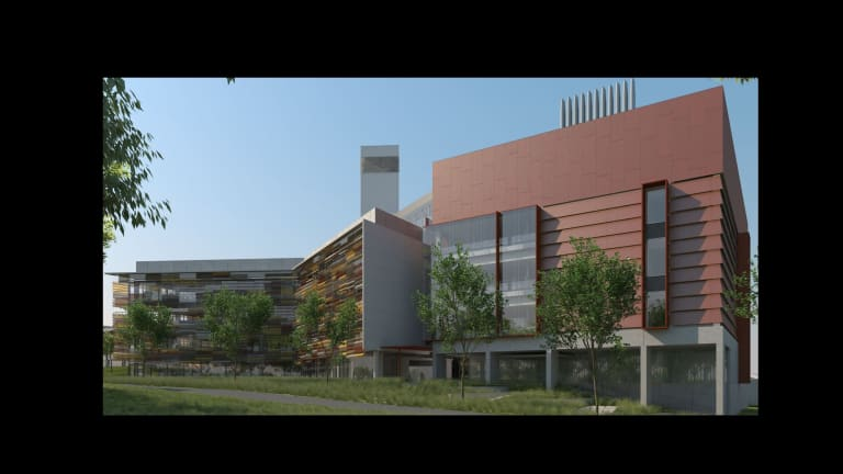 Science hub: An artist's impression of the planned Black Mountain facility.