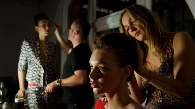 Backstage at the Myer - Sass And Bide summer launch.