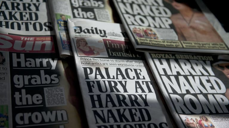Making news ... the Harry story has dominated the British tabloids but the nude images have not been published.