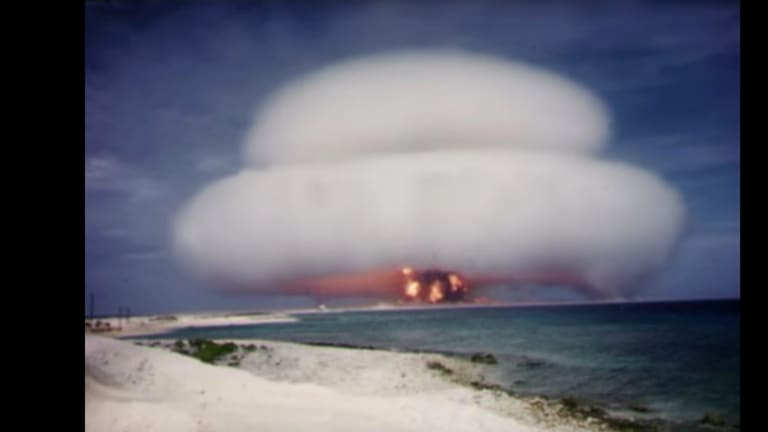 The test firing of a US nuclear weapon code-named Operation Hardtack was included in a new series of declassified footage recently released.