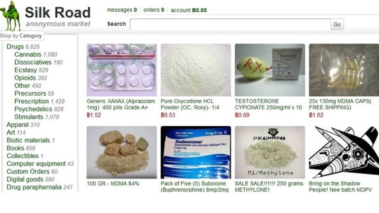 A screenshot from the Silk Road drug trading website.