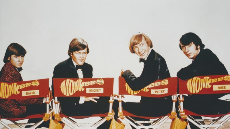 The Monkees in the early days: Davy Jones (L), Mickey Dolenz, Peter Tork and Michael Nesmith.