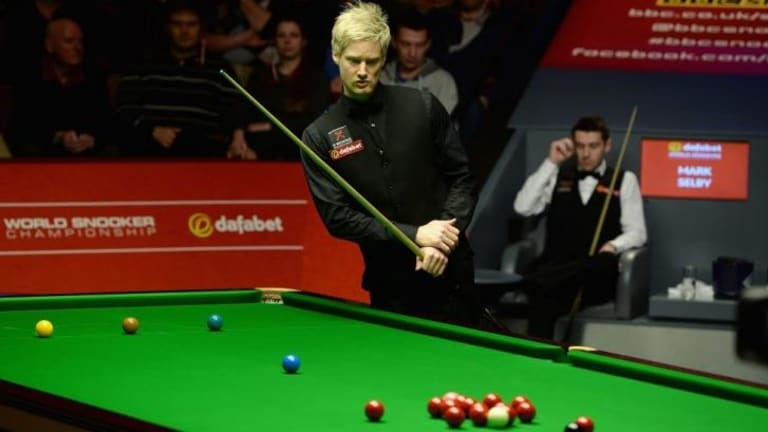 Ousted: World No.1 Neil Robertson.