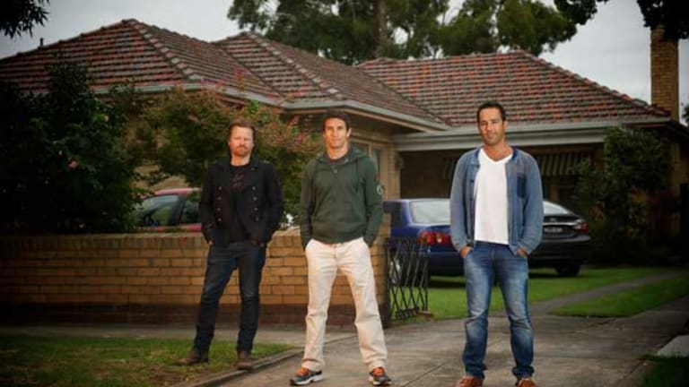 Anthony Hayes, Jonathan LaPaglia and Alex Dimitriades who star in <i>The Slap</i>, which will be shown on ABC TV.