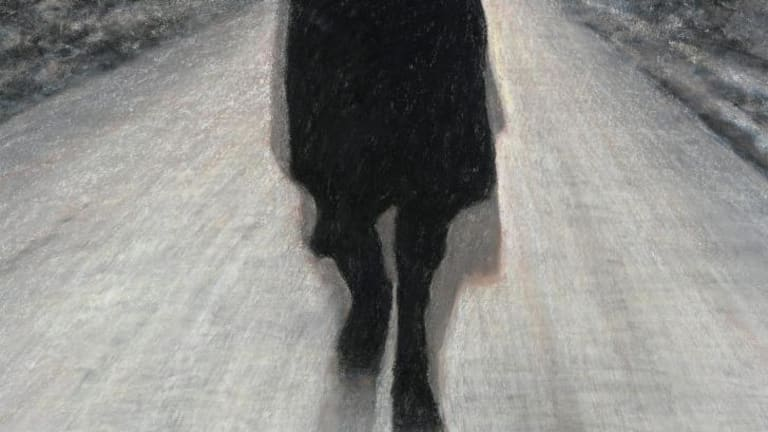 "Thornton Walker, ""Runner #4"" in ""Thornton Walker: New works on paper"" at Beaver Galleries."
