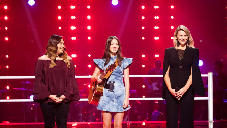 Lucy beat teammates Liz Conde and Brooke Schubert to progress to the next round of 'The Voice'.