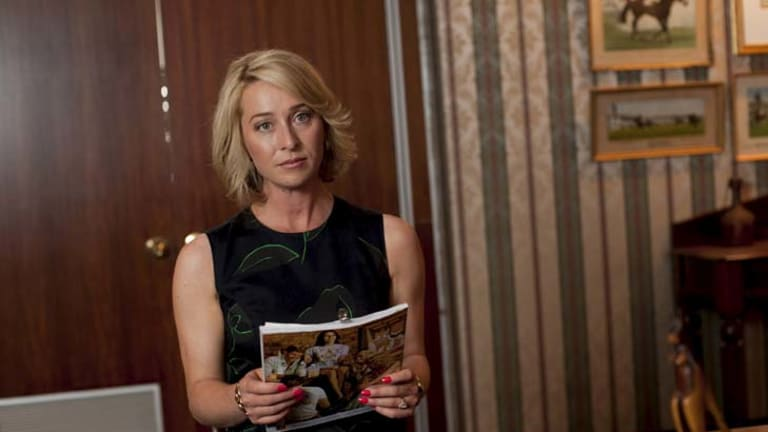 In line for top gong ... Asher Keddie as Ita Buttrose in <i>Paper Giants</i>.