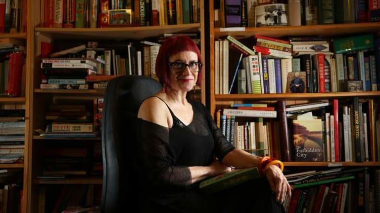 Translator and author Linda Jaivin at home in Elizabeth Bay.