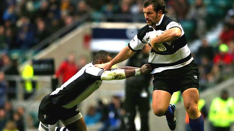 Barnstorming: Bismarck du Plessis scored two tries for the Barbarians.