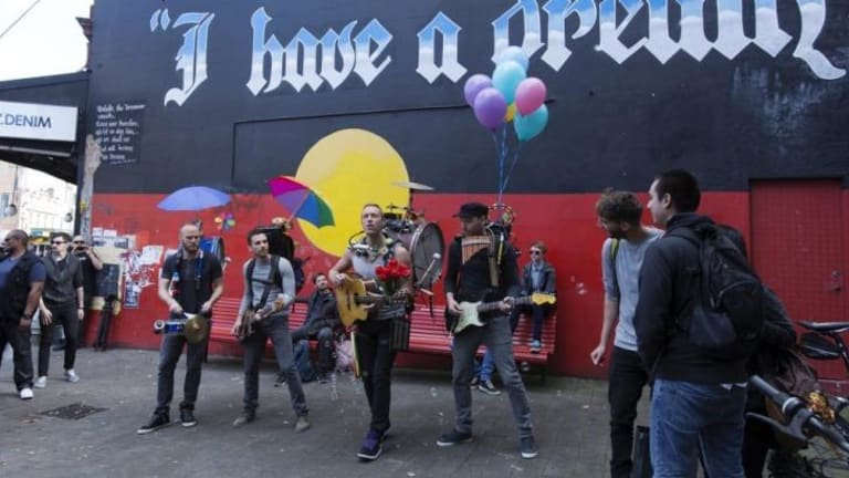 'I have a dream' of filming in Newtown ... Coldplay.