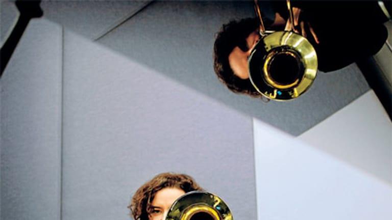 In demand: trombonist Shannon Barnett.