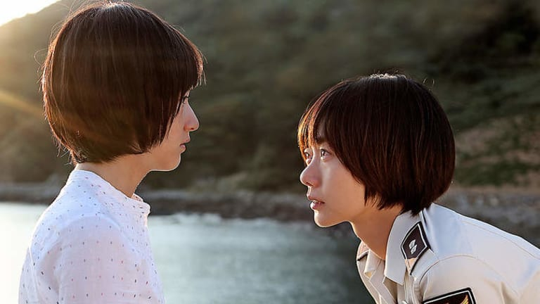 Doona Bae and Hie-jin Jang star in July Jung's <i>A Girl At My Door</i>.