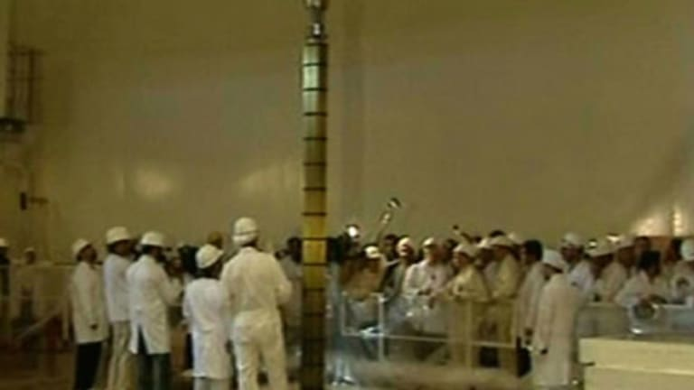 Finishing touches  ... the reactor at Bushehr.