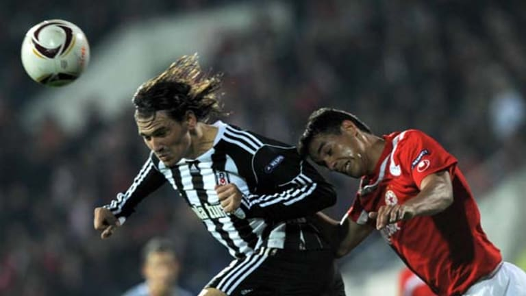 Wanted man ... Besiktas' Ersan Gulum, left, has caught the eye of Australian and Turkish officials but has played for neither country at senior level.
