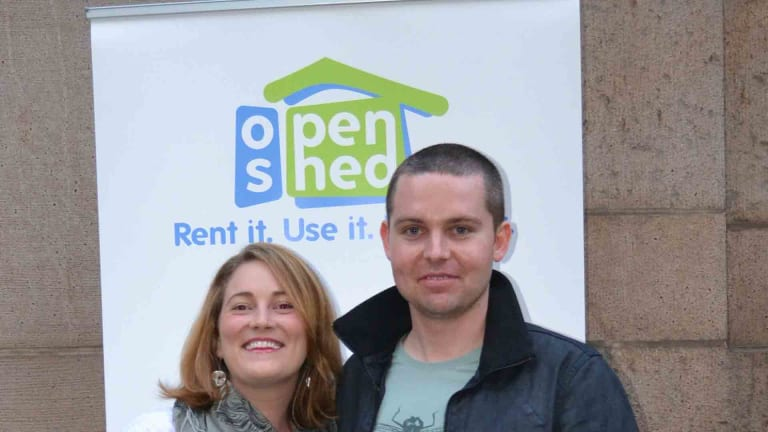 Open Shed co-founders Lisa Fox and Duncan Stewart