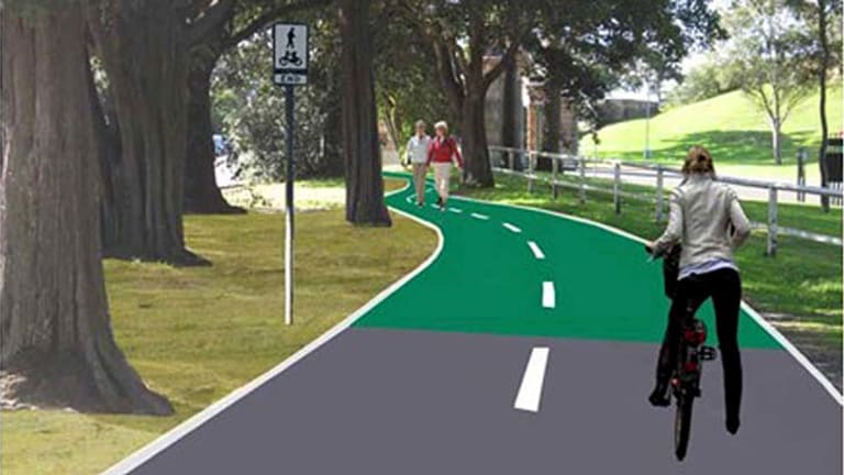 Shared: An artist's impression of the path alongside Oxford Street.