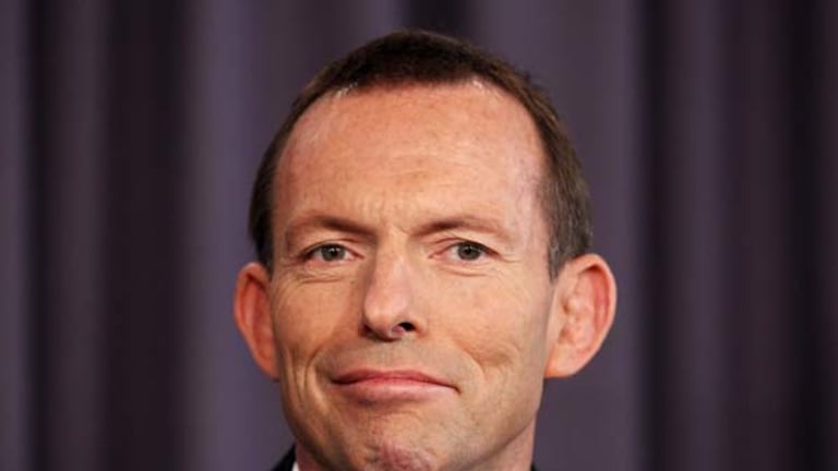 Tony Abbott ... star of the Ernie Awards.