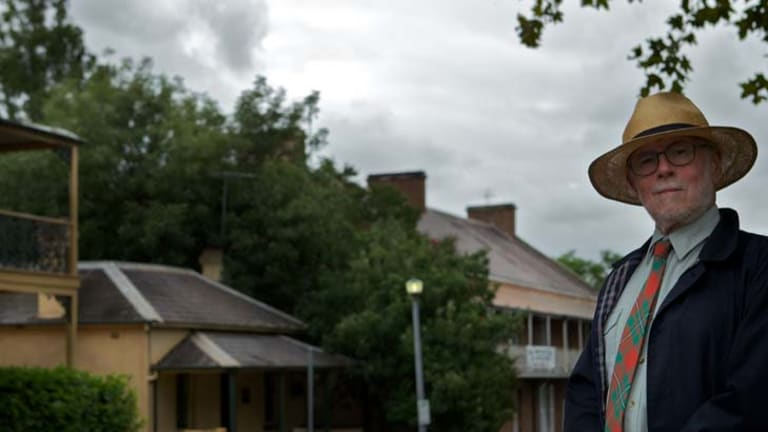 Worried ... heritage architect Clive Lucas believes the proposed new four-lane bridge will ruin Thompson Square.