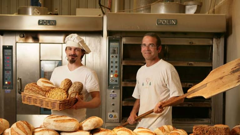 Organic approach ... bakers Nick Anthony and Jan Hackenberg at La Tartine, Somersby.