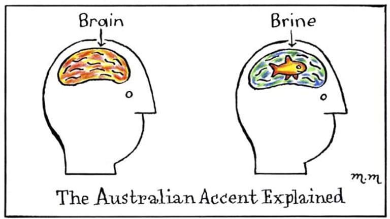 Accent cartoon.