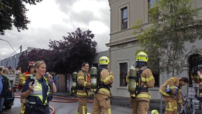 Fire at The Pinnacle Hotel this morning in St.Georges Road, North Fitzroy
