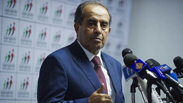 Likely winner ... National Forces Alliance leader Mahmoud Jibril.