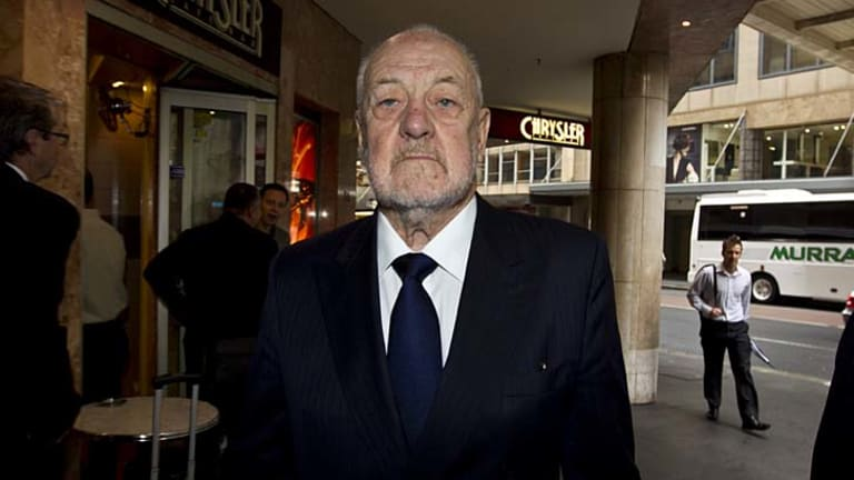 Travers Duncan arriving at the ICAC hearing in December 2012. He is now attempting to stop the inquiry.