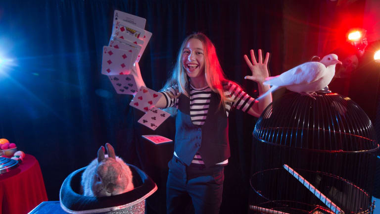 Nicola is a 14 year old budding magician who will be taking part in the Australian Junior Championships of Magic.