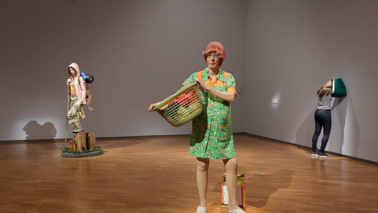Installation view of Hyper Real at the National Gallery of Australia, Canberra.