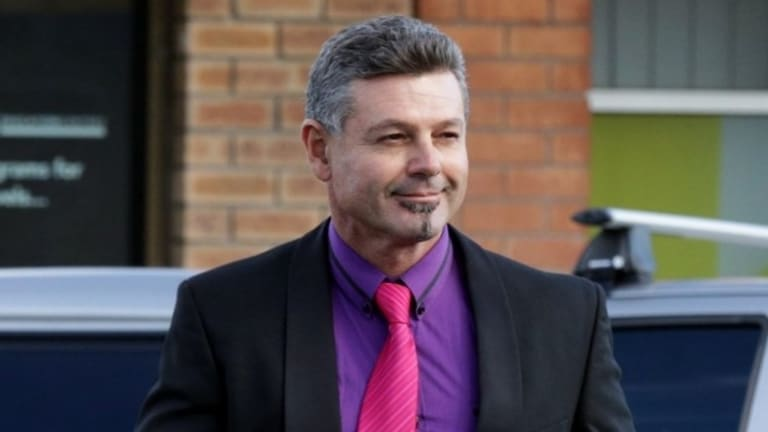 Michael Diamond outside Raymond Terrace Courthouse in a file photo.