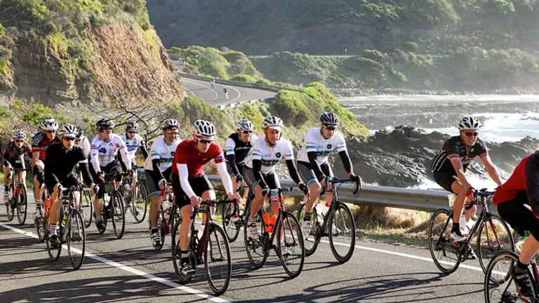 The Paragon team at last year's Amy's Gran Fondo Ride down the Great Ocean Road.