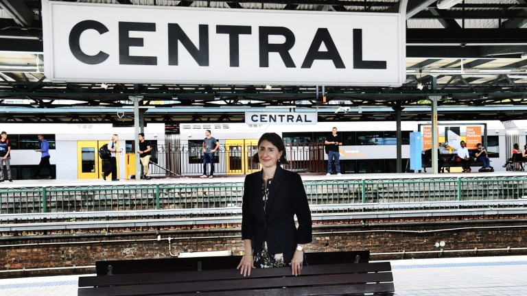 NSW Premier Gladys Berejiklian; after she made an announcement about the Central Station upgrade.