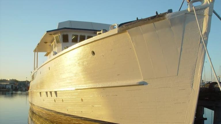 Hope floats: The RV Pax, formerly known as the Kalbarrie.