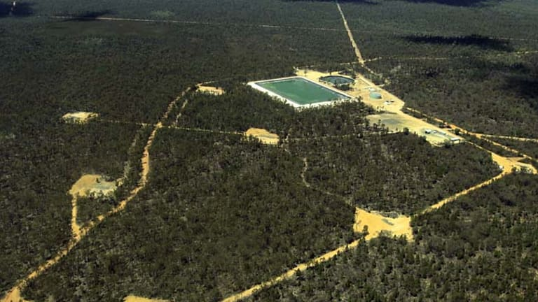 New CSG water spillage: The Pilliga forest.