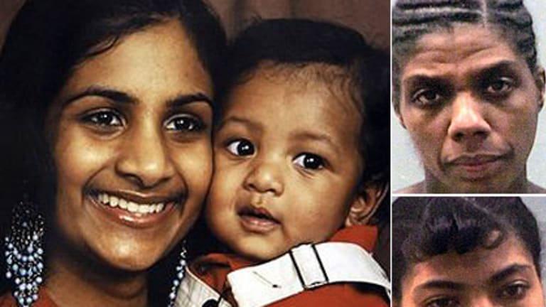 (Left) Ria Ramkissoon and her son Javon Thompson, (top right) Queen Antoinette and (bottom right) Trevia Williams.