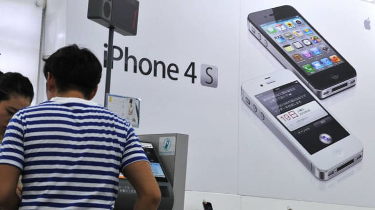 The Apple iPhone 4S on display in Tokyo. Apple is expected to launch its new iPhone model in September.
