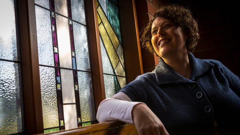 Danielle Lupi, a member of Catholic Voices, at St Philips Catholic Church.
