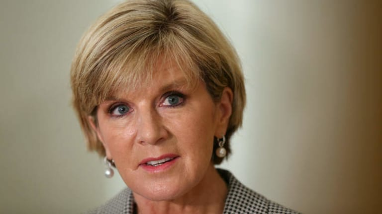 Believes Australia has a strong chance: Foreign Minister Julie Bishop.