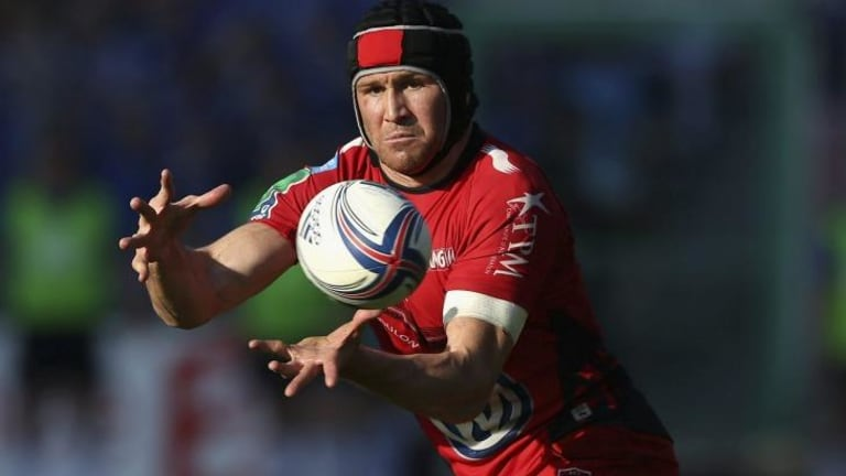Former Wallaby Matt Giteau in action for Toulon this year.