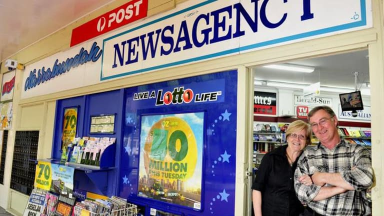 John and Cheryl Keeley have worked together at the Narrabundah Newsagency for more than 28 years.
