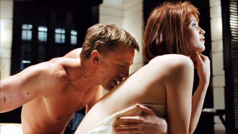 Gemma Arterton with Daniel Craig in Quantum of Solace.