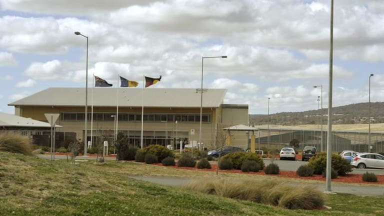 Almost 35 per cent of prisoners in the Alexander Maconochie Centre are unsentenced.