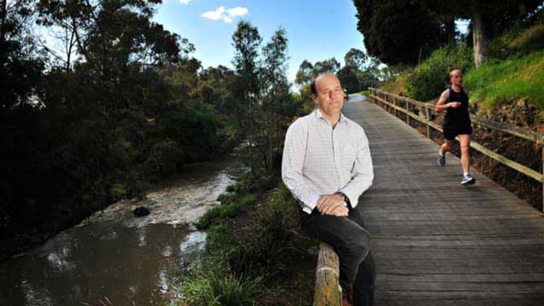 Greens member Tim Thornton at Merri Creek.