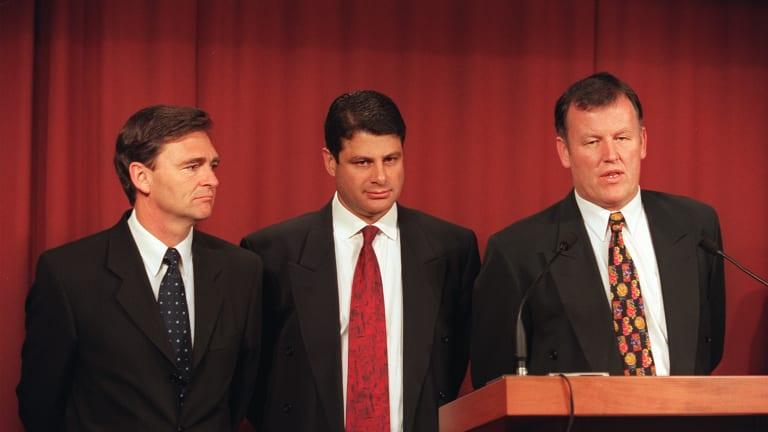 John Brumby, former  Victorian premier Steve Bracks, and attorney general Rob Hulls.