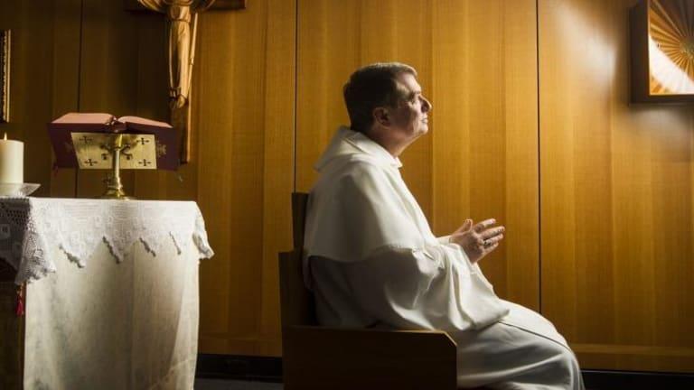 Pledges: Anthony Fisher at the Corpus Christi chapel in Parramatta.