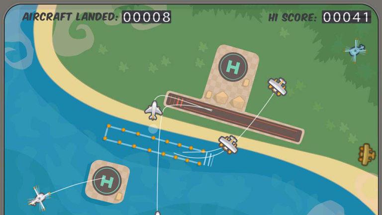 A screenshot of Firemint's flagship game, Flight Control.